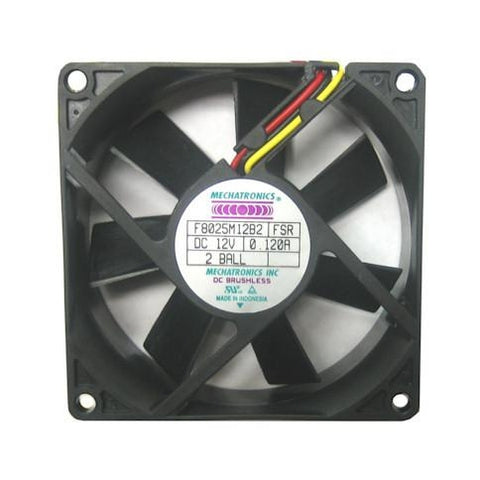Mechatronics 80x25mm Med Speed 12 volt Fan w/LOCKER ROTOR ALARM SIGNAL #F8025M12B2-FSR