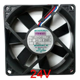 Mechatronics 80x80x25mm 24 volt high speed fan with rpm Sensor #F8025H24B1-FSR