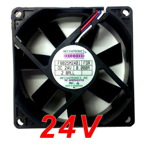 Mechatronics 80x80x25mm 24 Volt Medium Speed Fan F8025M24B1 - Coolerguys