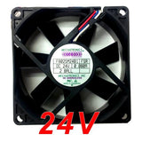 Mechatronics 80x80x25mm 24 volt Medium Speed fan with RPM sensor # F8025M24B1