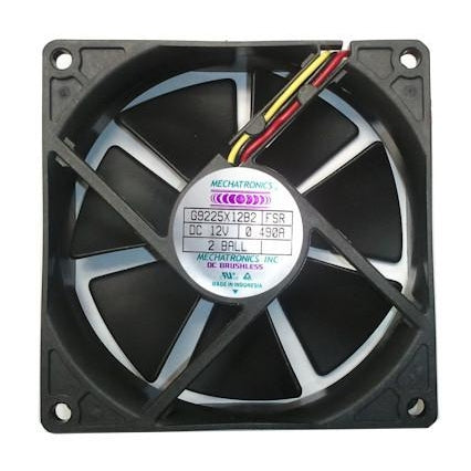 Mechatronics 92x92x25mm High Speed 12 Volt Fan with Locker Rotor Alarm Signal G9225X12B2-FSR - Coolerguys