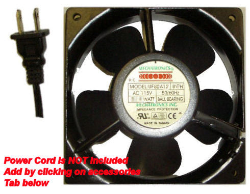 Mechatronics 80x80x38mm High Speed  AC Fan UF80A12-BTH - Coolerguys
