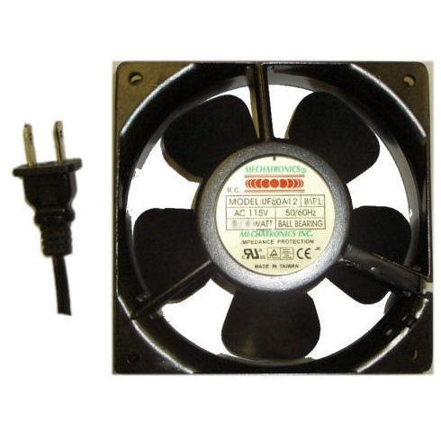 Mechatronics 80x80x38mm Low Speed 115 Volts AC Fan UF80A12-BTLR - Coolerguys