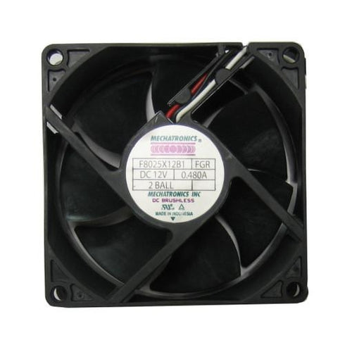 Mechatronics 80x80x25mm Ultra High Speed 12 Volt Fan F8025X12B1 FGR - Coolerguys