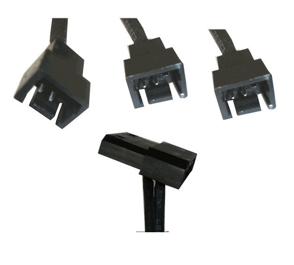 Mini 4 pin to triple 3 pin connector-sleeved