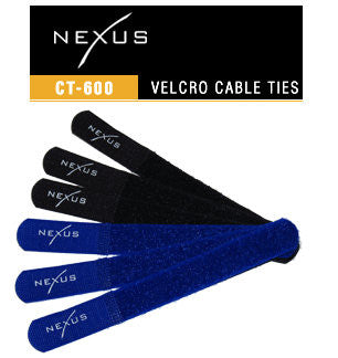 Nexus Self Fastening Velcro Cable Ties CT-600 (6) Pieces 18CM