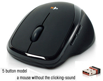 Nexus Silent Mouse Desktop 5 button SM-8000 - Coolerguys