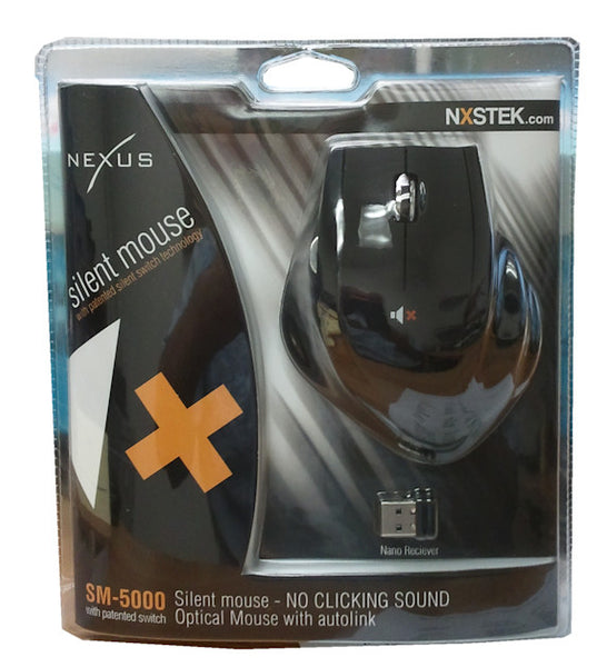 Nexus Silent Mouse with double scroll wheel Black SM-5000B