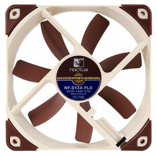 Noctua 120x120x25mm Premium Fan NF-S12A FLX - Coolerguys