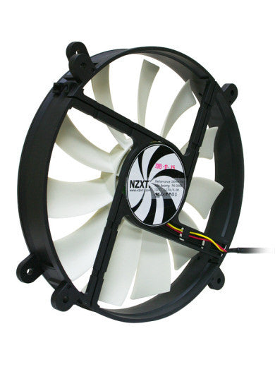 NZXT 200mm Performance Fan: 200x200x30mm 3 or 4 pin FN-200RB