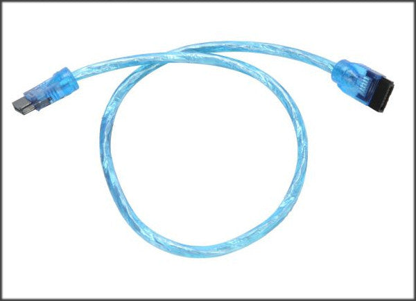 OKGear 18 inch UV Blue Premium SATA III Round Cable 6GB/s Straight to Straight  w/latch