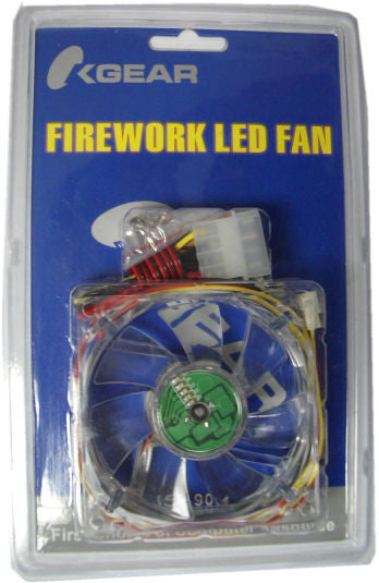OKGEAR 80mm Firework RED LED Fan