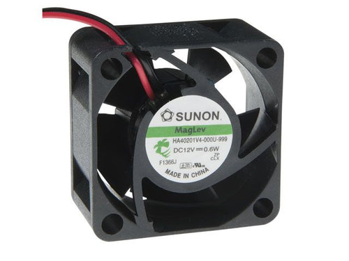 Sunon 40x40x20mm Super Silent HA40201V4-000U-999 2 wire, no connector - Coolerguys