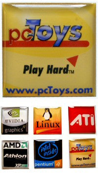 pcToys Case Badge