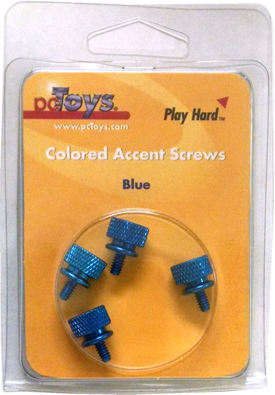 pcToys Speed Case Thumb Screw Blue (4) retail pack - Coolerguys