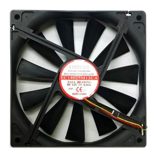 EVERCOOL 140x25mm Med Speed 12V Fan 3wire/3pin #EC14025M12CA