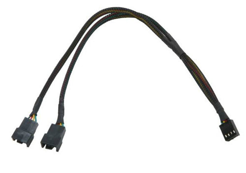 PWM Y Cable #FC444PWM-12BKS - Coolerguys