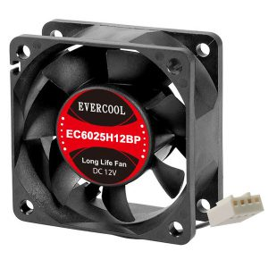 Evercool 60x60x25mm Dual Ball PWM Fan EC6025H12BP