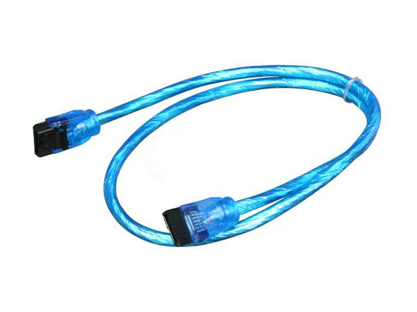 "Sata III Premium Cable 24"" UV Blue Straight to Straight OK24A3RUB11"