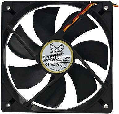 Scythe 120mm PWM Fan # DFS122512L-PWM - Coolerguys
