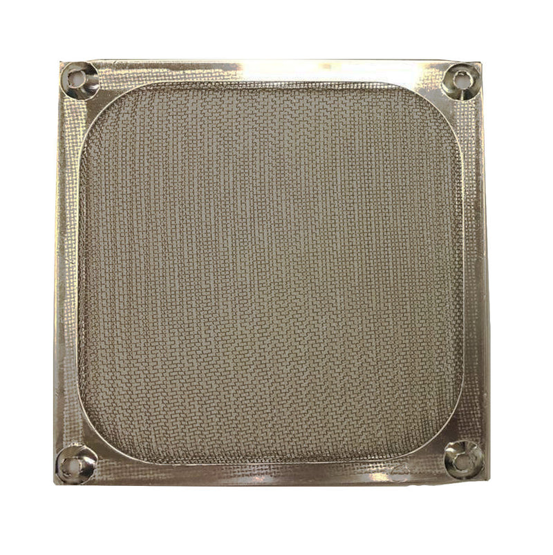 120mm Aluminum Fan Filter Grill, Black or Silver