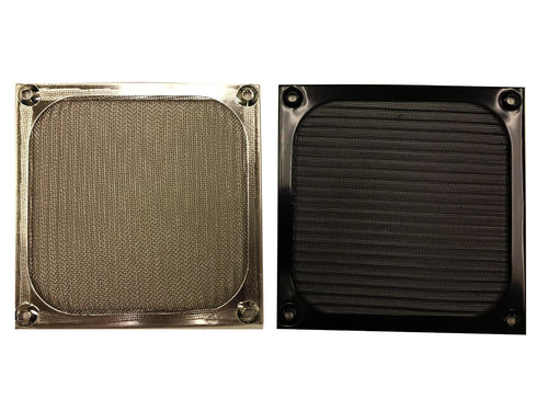 120mm Aluminum Fan Filter Grill, Black or Silver - Coolerguys