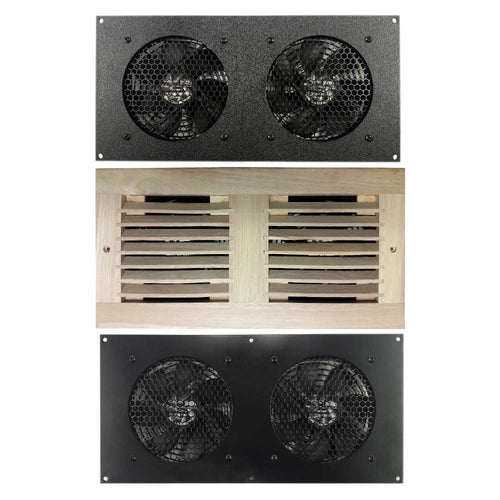Coolerguys Dual 120mm Fan Cooling Kit with Programmable Thermal Controller - Coolerguys