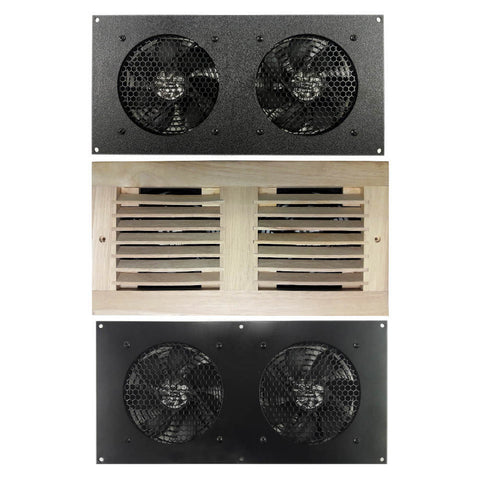 Coolerguys Dual 120mm Fan Cooling Kit With Thermal Controller