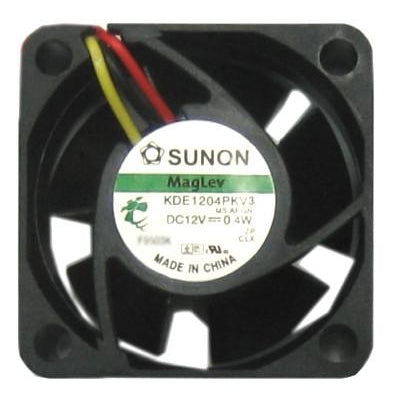Sunon 40mm (40x40x20mm) 12V DC Fan Model KDE1204PKV3 with RPM Sensor - Coolerguys