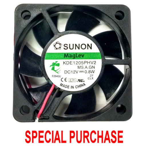 Sunon 50x50x15mm 12 volt fan 2 wire with 2 pin connector #KDE1205PHV2.MS.A.GN