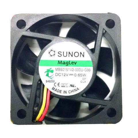 Sunon 50x50x15mm Med speed 12 volt fan 3 wire/3pin connector # MB50151V2-000-G99