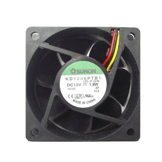 Sunon 60x60x25mm High Speed 3 Pin Fan KD1206PTB1 / EE60251B1-000U - Coolerguys