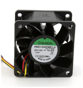 Sunon 60x60x38mm High Speed Fan  PMD1206PMB1-A(2).F, 3 Pin