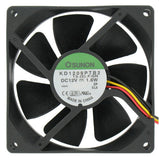 Sunon 92x92x25 Med speed 3pin 12V fan KD1209PTB2