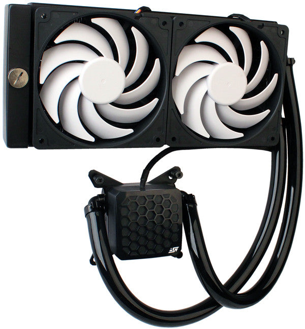 Swiftech H220 AIO Kit Dual 120mm All-In-One CPU Liquid Cooling Kit - Coolerguys