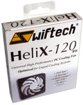 Swiftech Helix 120 x 25mm 9 Blade 12V 3 pin Fan HELIX-120-BW