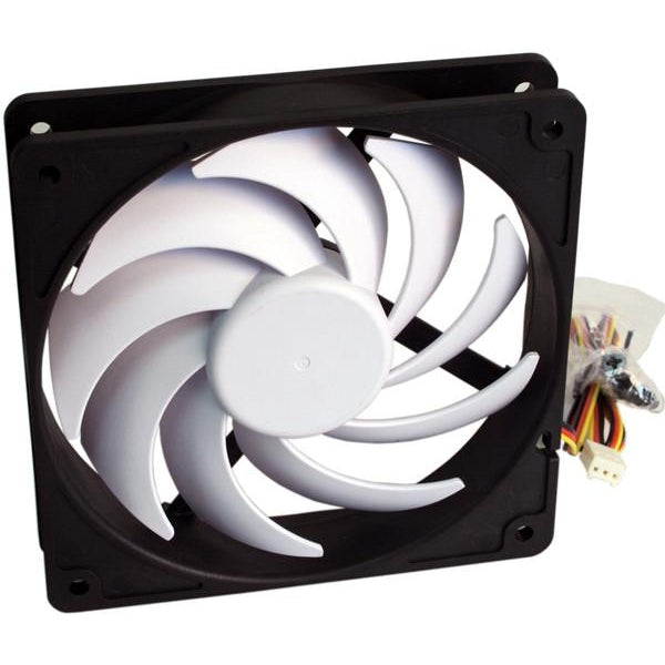 Swiftech Helix 120x120x25mm 9 Blade 12 Volts Fan HELIX-120-BW - Coolerguys