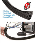 Techflex cable wrap (7) sizes / per Foot / 1/8 inch to 2 inch - Coolerguys
