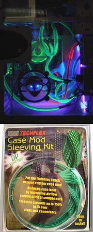 Techflex Sleeving (UV Sensitive) Green/Black