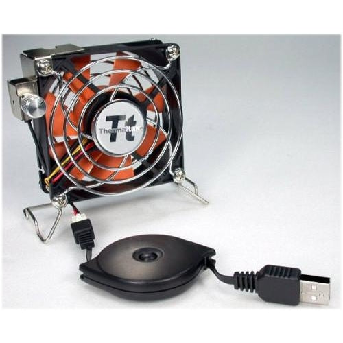Thermaltake 80x80x25mm Mobile Fan II External USB Cooling Fan P/N: A1888 - Coolerguys