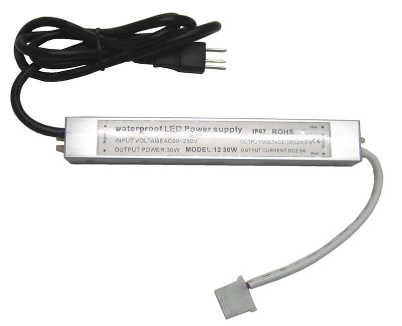 Under cabinet AC90-250V to 12 volt  LED Driver/power supply 2.5A PA-AD-LED - Coolerguys