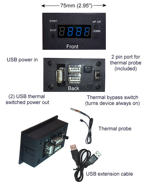 USB Powered Programmable thermal Controller with LED Display