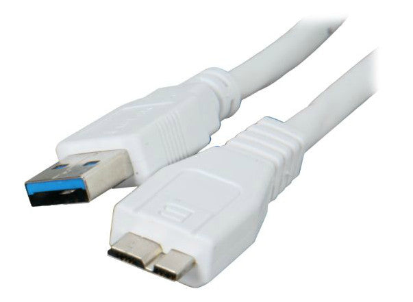 USB3.0 A(male) to Micro B(male) 3 ft cable-White OK2676