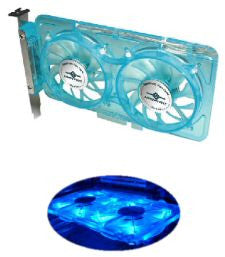 Vantec Spectrum UV LED blue fan card w/speed controller
