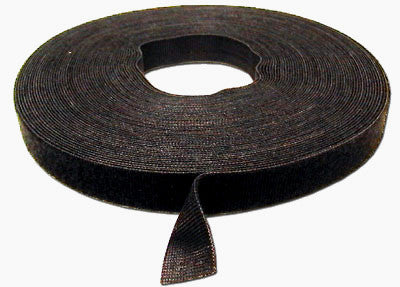 Velcro Tie Wrap   3/4 inch velcro wrap-Black  (sold per foot)