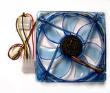 YATE LOON Clear Blue 120mm Case Fan with 4 Blue LEDs - D12SM-12