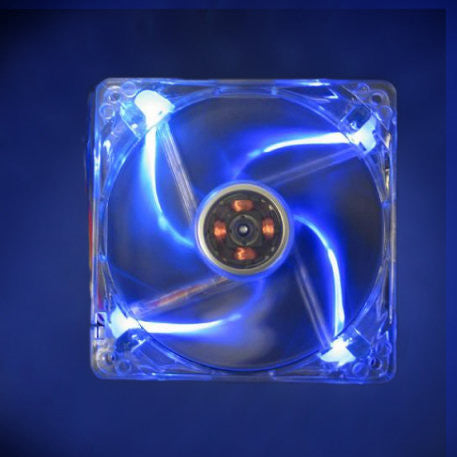 Yate Loon Clear Blue 120x120x25mm Case Fan with 4 Blue LEDs  D12SM-12 - Coolerguys