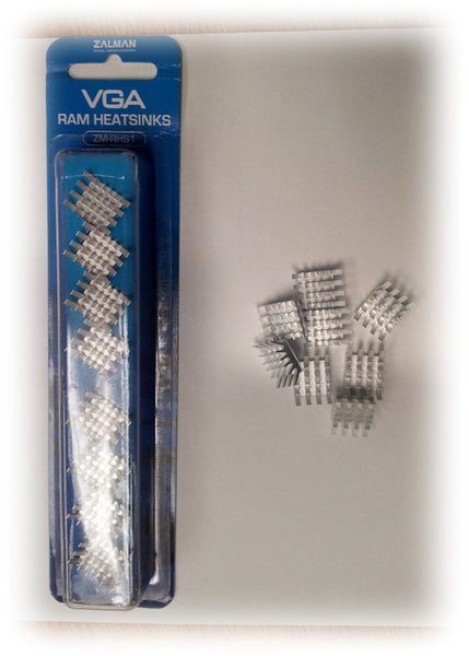 Zalman VGA Ram Heatsinks (8) P/N ZM-RHS1 Color Silver
