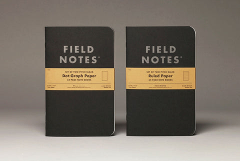 Field Notes Pitch Black Note Book