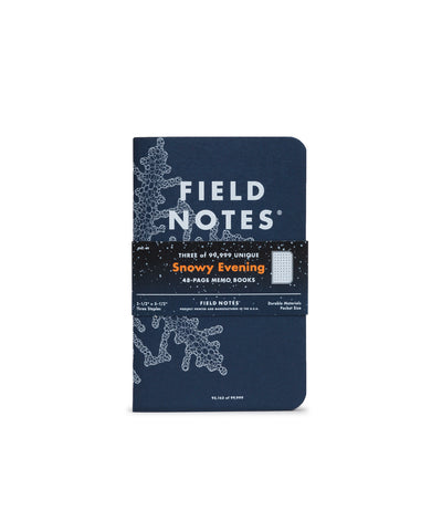 Field Notes Snowy Evening Notebooks